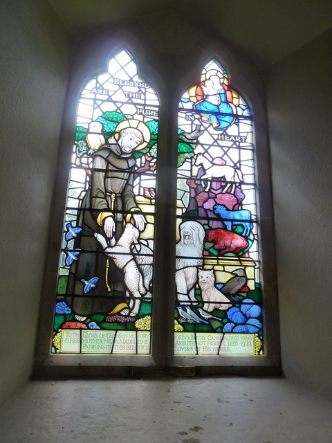 St Martin, Ellisfield: stained glass window (2)