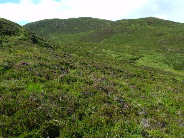 Looking towards north ridge of Beinn Bhreac near Aberfoyle