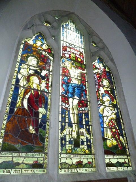 St Martin, Ellisfield: stained glass window (5)