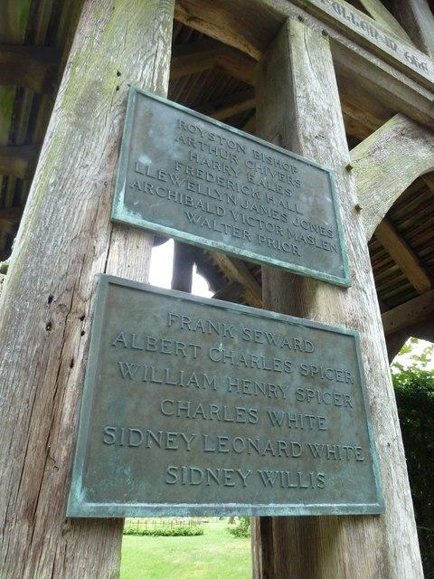 Dummer - All Saints Church: 1914- 1918 memorial