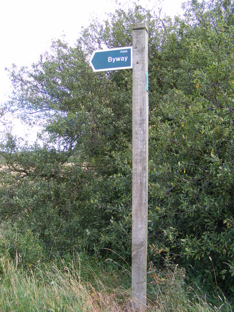 Byway Sign in Mill Lane
