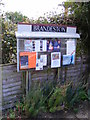 TM2460 : Brandeston Village Notice Board by Adrian Cable