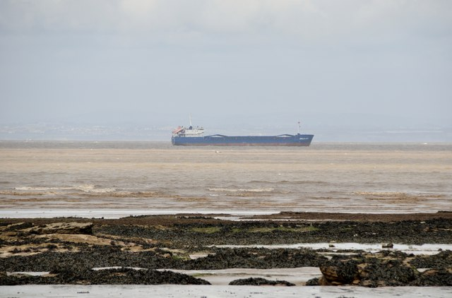 West Somerset : Boat in the Bristol Channel