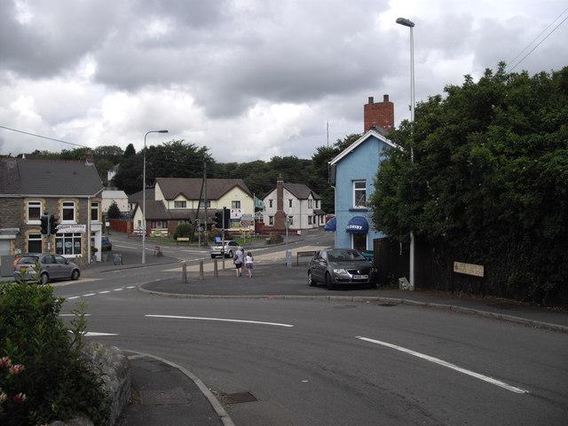 Junction of Black Lion Rd and Llandeilo Rd, Gorslas