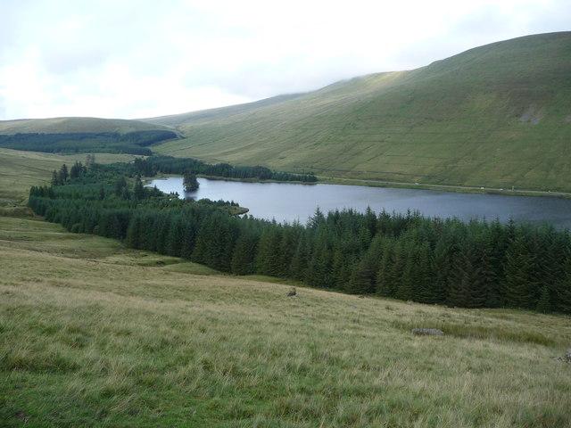Hillside above the Beacons Reservoir