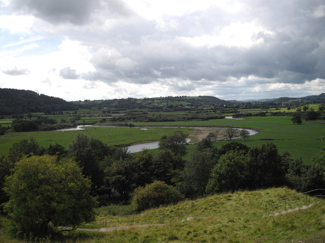 The meandering River Towy
