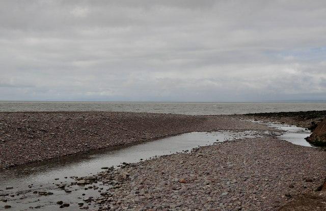 West Somerset : Porlock Beach & Stream