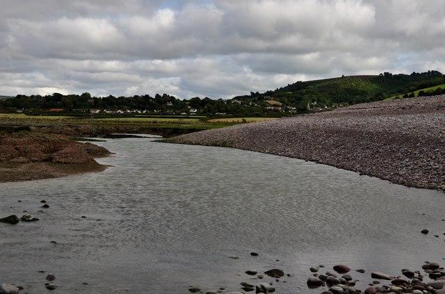 West Somerset : Stream on Porlock Beach