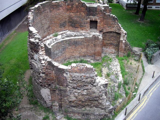 Part of London wall Barbican