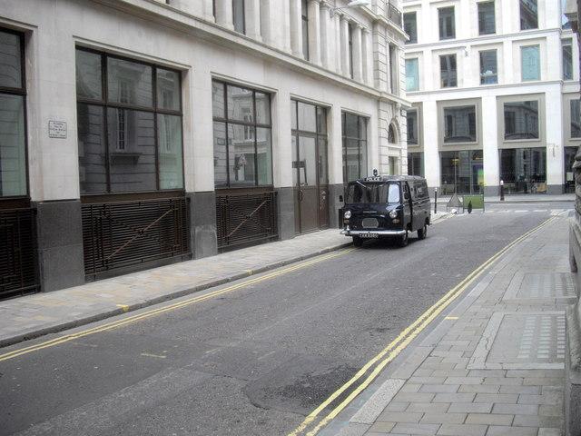 Old Austin Van in Basinghall Street London