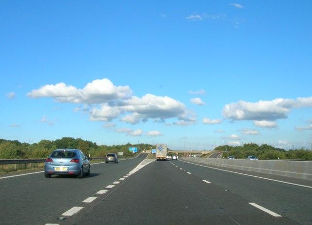 Exit road, Junction 3, M18 for Doncaster