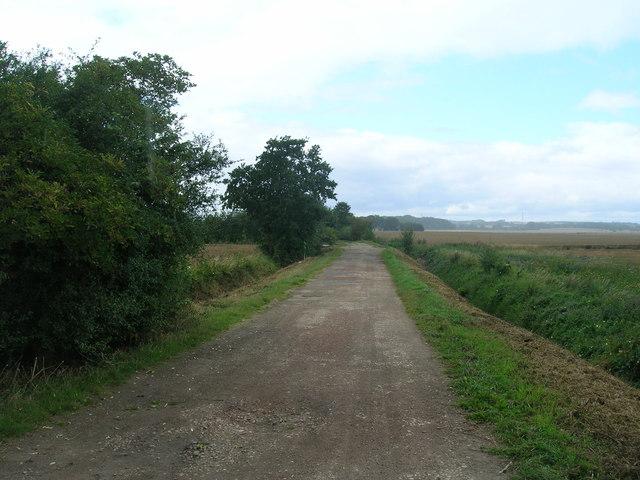 Sheepwash Lane heading west