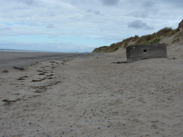 Pillbox at the dune front