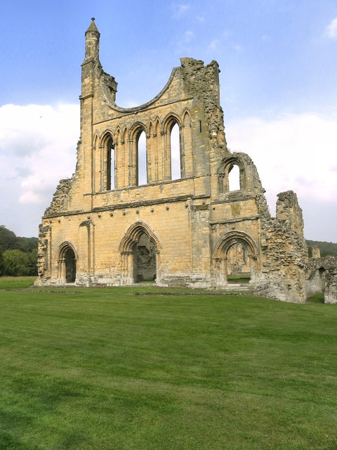 Remains of Rose Window, Byland Abbey