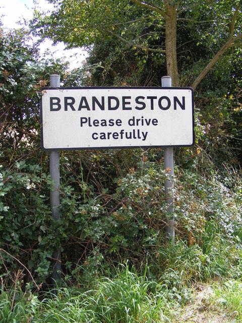 Brandeston Village name sign