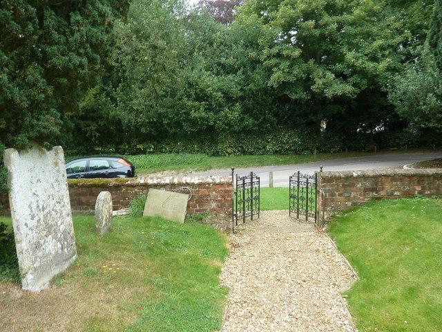 Dummer - All Saints Church: exiting the churchyard