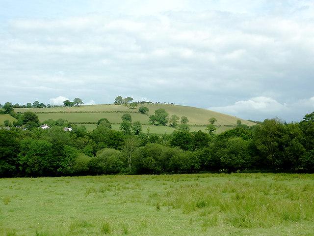 Farmland north-west of Abermeurig, Ceredigion