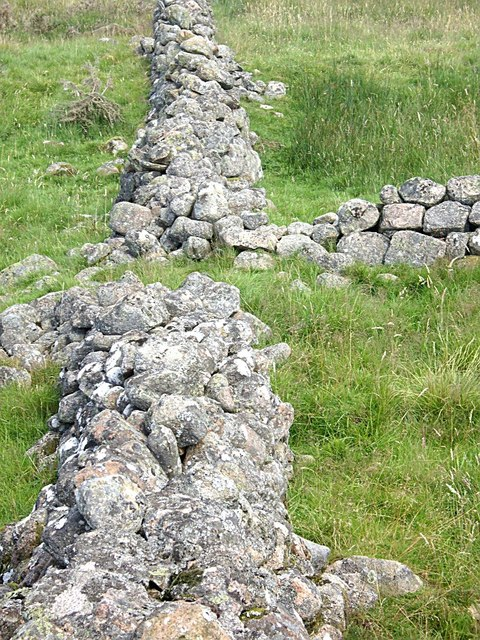 Detail of a dry stone wall junction