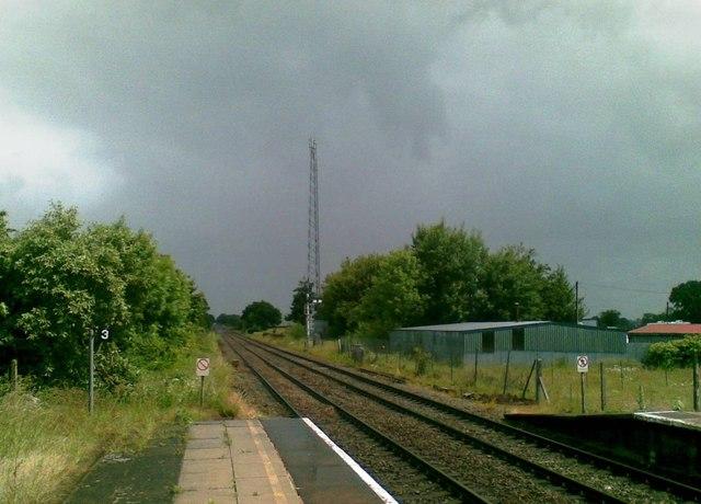 Looking NE from Wrenbury Station