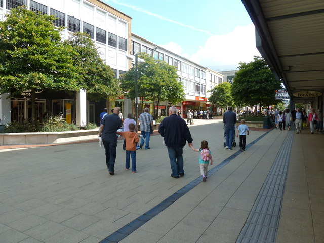 Pedestrians passing New Look in Queens Square