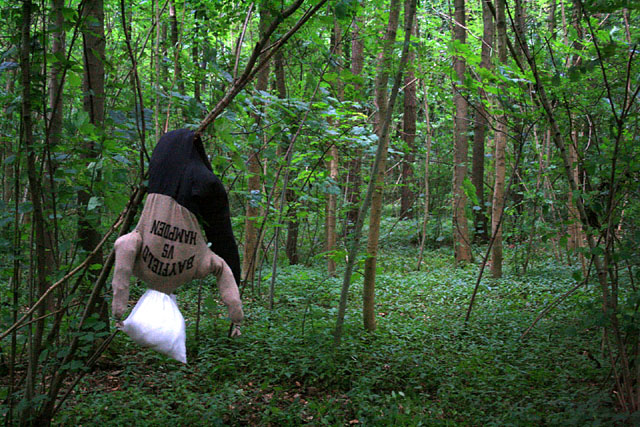 Dummy in the woods