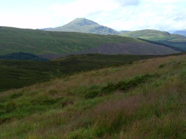 Slopes north-west of lochan on Binnean nan Gobhar in Loch Ard  Forest