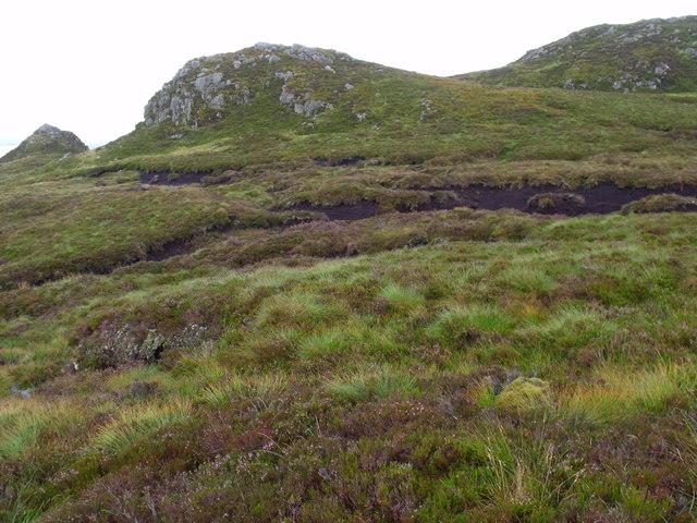 Series of rocky knolls north of Binnean nan Gobhar's lochan