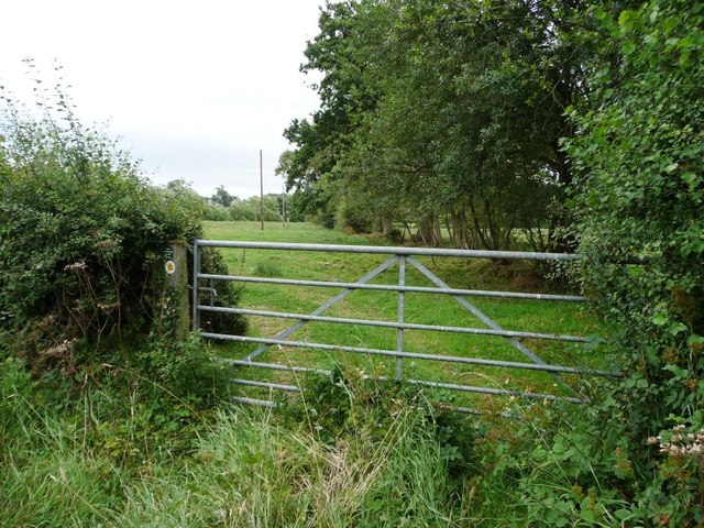 Public footpath heading east
