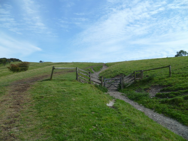 Gate on the ascent of Fulking Escarpment