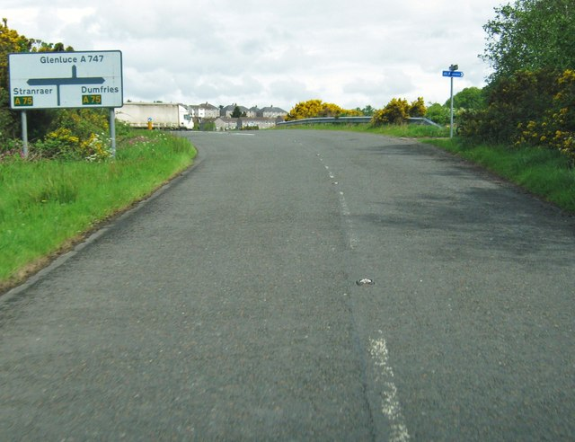 The road from Stairhaven meets the A75