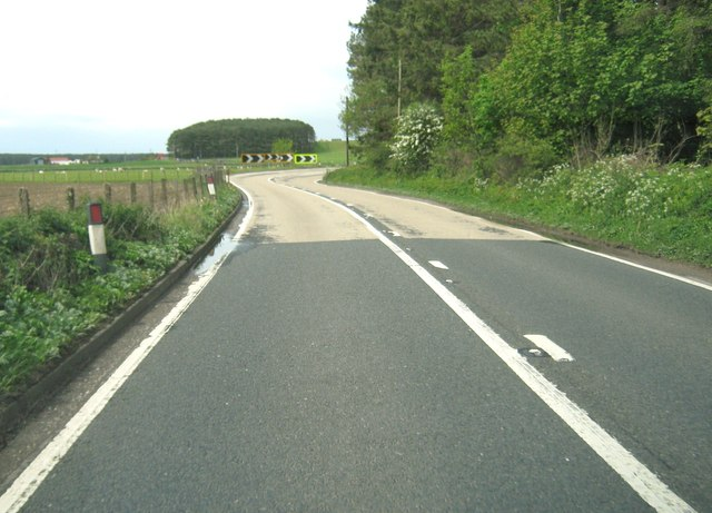 A sharp bend on the A75
