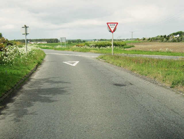 Slip road from the A75 to the B7084