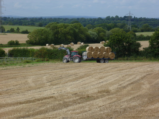 Tractor at work near Fulking