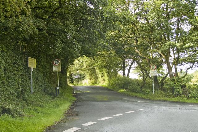Lane junction below Beacon Fell