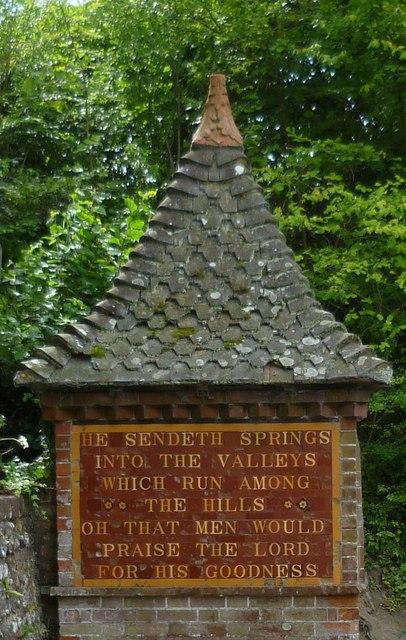 The spring at Fulking (detail)