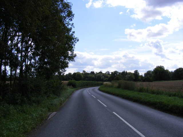B1077 near the footpath to Framsden