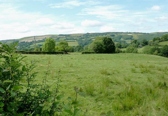 Farmland near Abermeurig, Ceredigion