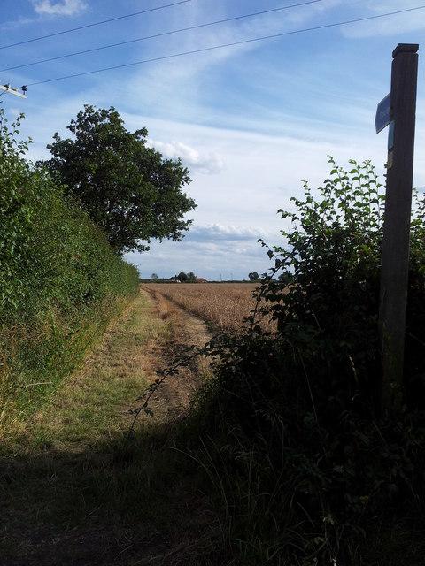 Footpath between Polls Lane & Cromwell Road
