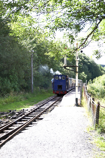 Bala Lake railway train at Llangower