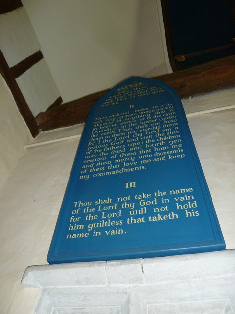 Dummer - All Saints Church:  The Ten Commandments