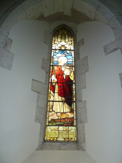 Dummer - All Saints Church:  stained glass  window (i)