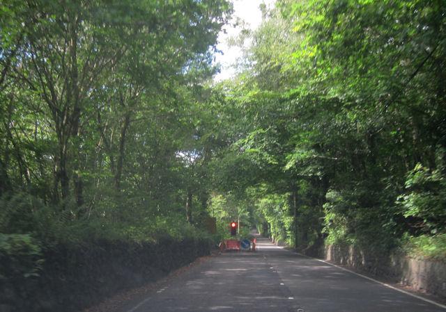 A494 roadworks near Ffrwyd Gwyllt
