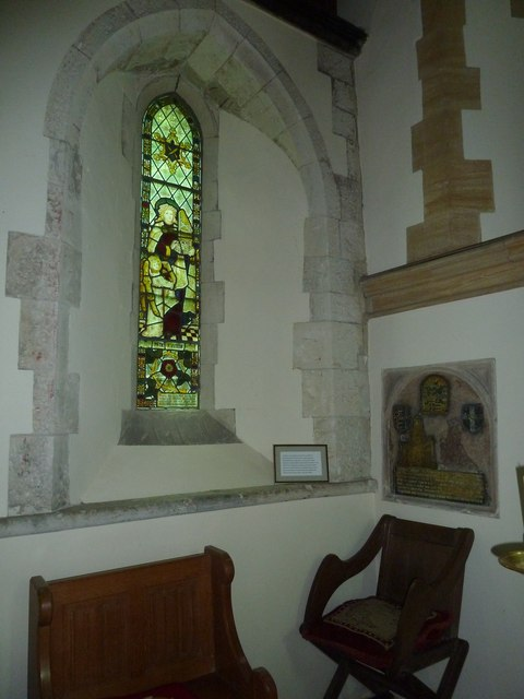 Dummer - All Saints Church: stained glass  window (ii)