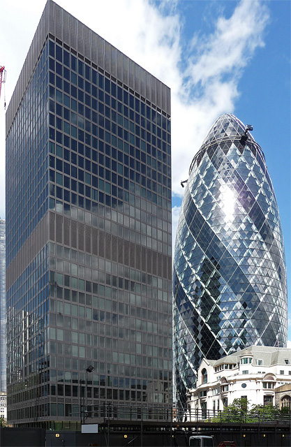 Commercial Union Assurance, Leadenhall Street and 30 St Mary Axe