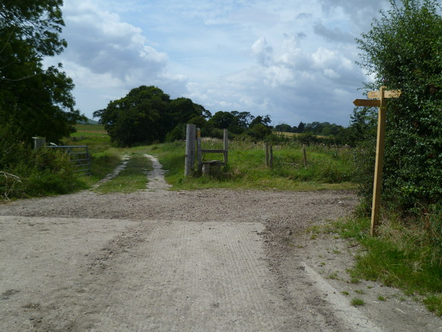 Footpath junction west of Poynings
