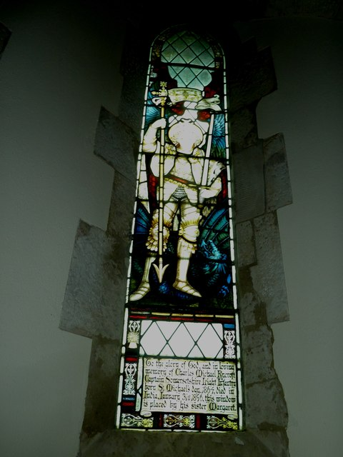 Dummer - All Saints Church: stained glass  window (v)