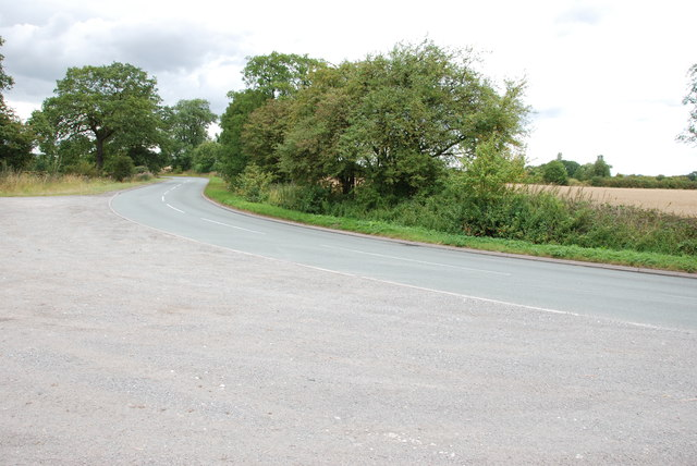Double Bend and Runoff on the B5405, Great Bridgeford