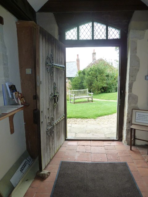 Dummer - All Saints Church: looking out of the west door