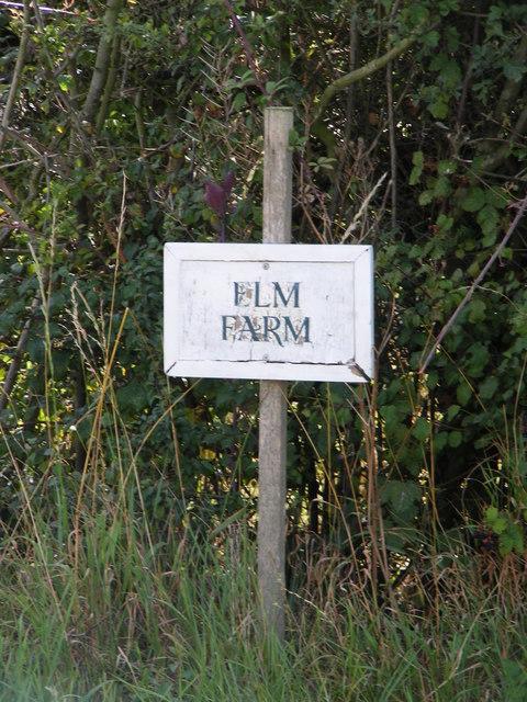 Elm Farm sign