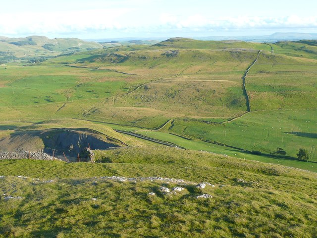 View from Moughton Nab, Austwick